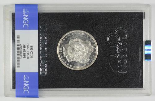 MS62 DPL 1883-CC Morgan Silver Dollar - GSA Hoard - Graded NGC