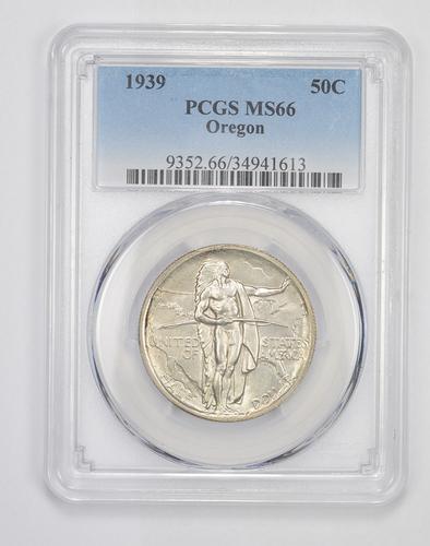 MS66 1939 Oregon Trail Commemorative Half Dollar - Graded PCGS