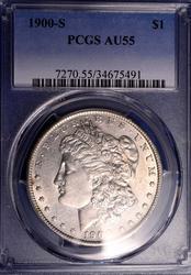 1900-S Morgan Silver Dollar PCGS AU55