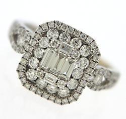 1 Carat Diamond Ring in 18K