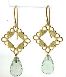 Fabulous Green Quartz Dangle Earrings