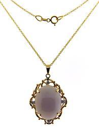 Fabulous Lavender Jade and Diamond Pendant
