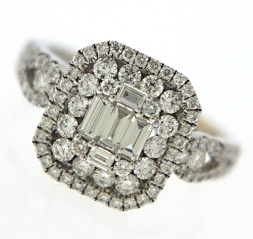 1 Carat Diamond Ring in 18K