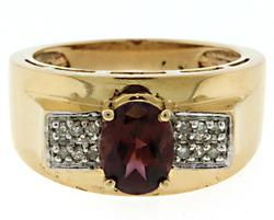 Gorgeous Oval Garnet and Diamond Ring