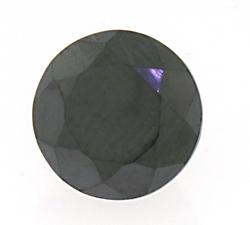 6.68CT Lab Created Round Cut Black Diamond