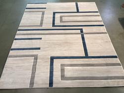 Carved Vivid Modern Design Area Rug 8X11
