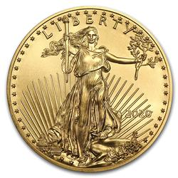 2020 American Gold Eagle 1/2 oz Uncirculated