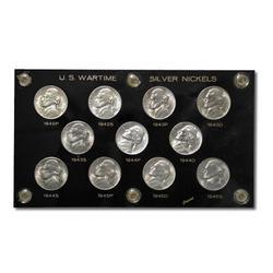 Uncirculated Wartime Nickel Set 1942-1945 11pc