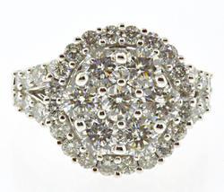 Stunning White Gold Diamond Cluster Ring