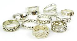 10 Sterling Silver Rings