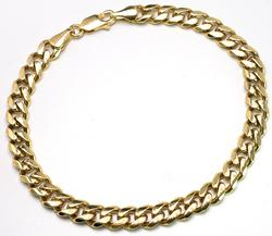 Heavy 14KT Yellow Gold Curb Link Bracelet