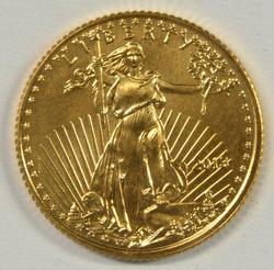 Superb Gem BU 2013 $5 American Gold Eagle coin