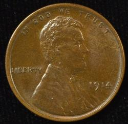 Near Gem Brown Uncirculated 1914 Lincoln Cent