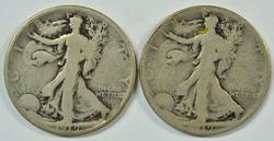 1919-P & 1919-S Walking Liberty Half Dollars. Key dates