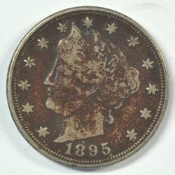 Scarcer 1895 Liberty 'V' Nickel in XF