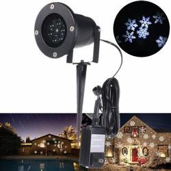 LED Snowflake Landscape Projector Light
