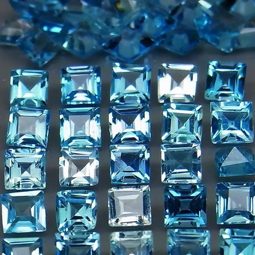 Exquisite 3mm Swiss blue 10.55ct Topaz set