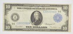 1914 $10 Federal Reserve Note - Richmond, VA - Horse Blanket