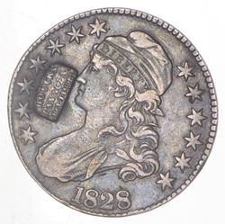 1828 Capped Bust Half Dollar Houcks Panacea Baltimore Counter Stamp