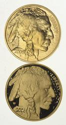 (Lot 2) Proof & Unc 2008 $50.00 1 Oz. Fine Gold American Buffalos
