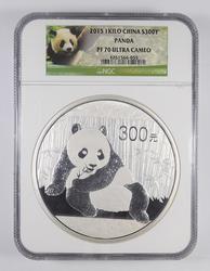 PF70 UCAM 2015 China 300 Yuan 1 Kilo Silver Panda - Graded NGC