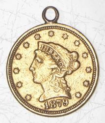 1879 $2.50 Liberty Head Gold Quarter Eagle - Love Token