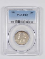 PR67 1936 Washington Quarter - Graded PCGS