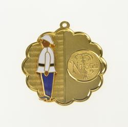 14K Yellow Gold Nassau Bahamas Enamel Guard Souvenir Charm/Pendant