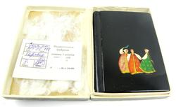 Vintage Russian Handpainted Lacquered Notebook
