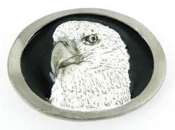 1986 Signed Enameled Eagle Belt Buckle