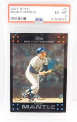 Mickey Mantle 2007 Topps Baseball Card, EX-MT 6