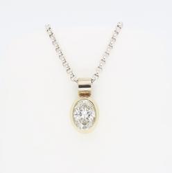 Classic Bezel Set .77CT Diamond Necklace