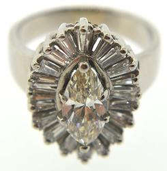 Beautiful Marquise Diamond Halo Ring