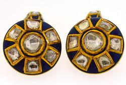 Diamond and Enamel Cufflinks