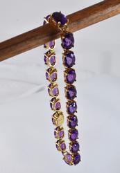 Gorgeous 20 Amethyst Bracelet in 14K