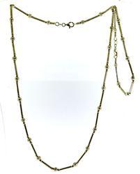 Amazing Set of Bead & Bar White Gold Necklace & Bracele