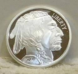 PROOF One Ounce Silver round, Gem - Indian