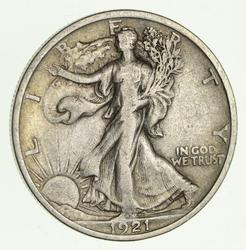 1921 Walking Liberty Half Dollar - Circulated