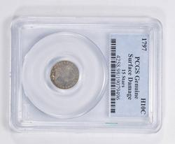 Genuine 1797 Draped Bust Half Dime - 15 Stars - PCGS Graded