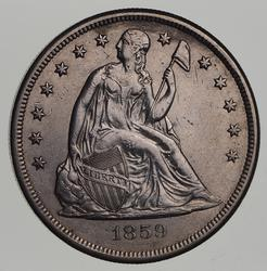1859-O Seated Liberty Silver Dollar - Near Uncirculated