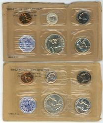 Gem 1955 & 1956 Proof Sets. Original flat packs