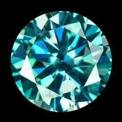 Premium 7.02ct Azotic blue Moissanite solitaire