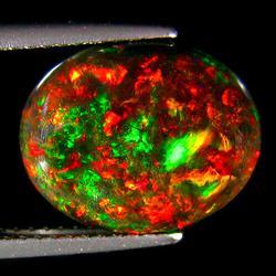 Fiery 4.52ct rainbow flashing Black Opal