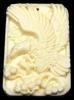 Bone Detailed Hand Carved Flying Eagle Pendant