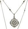Strong White Gold Diamond Pendant on Diamond Chain