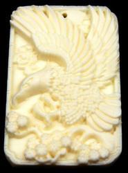 Bone Detailed Hand Carved Flying Eagle Pendant