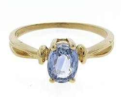 Beautiful Tanzanite Solatire Yellow Gold Ring