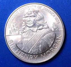BU 1974-FM Jamaica $10, Low mintage in BU