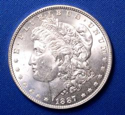 BU 1887 Morgan Silver Dollar