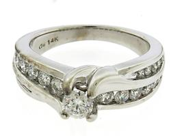 Charming White Gold Diamond Engagement Ring
